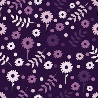 Floral pattern sans couture en fond violet