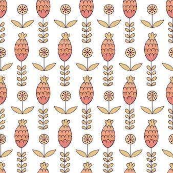Floral pattern sans couture en style cartoon.