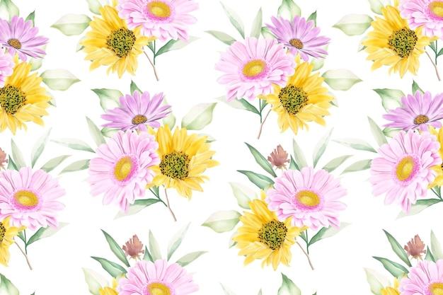 Floral pattern sans soudure floraison florale