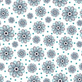Floral pattern sans soudure. ornement de fleur bleue. conception de textile ou d'emballage. illustration vectorielle