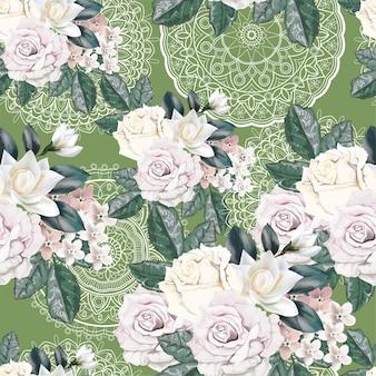 Floral pattern sans soudure