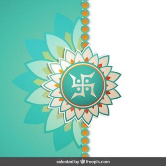 Floral raksha bandhan fond