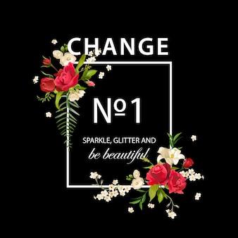 Floral Rose And Lily Graphic Design Pour T-shirt, Mode, Imprimés En Vecteur Premium