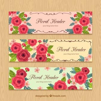 Floral tête de blog