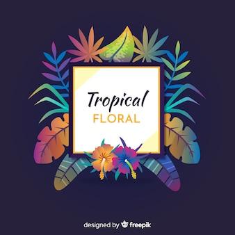 Floral tropical
