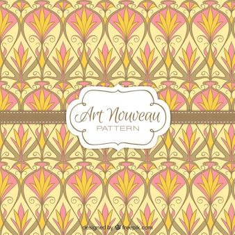 Floral vintage façonne motif art nouveau