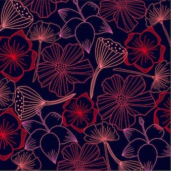 Flore abstraite en arrière plan