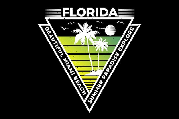 Floride belle plage miami explorer rétro