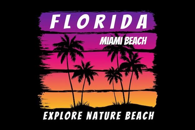 Floride explorer nature plage dégradé ciel