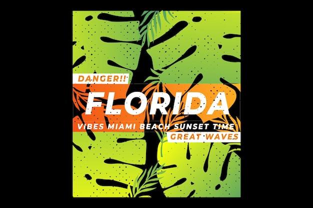 Floride feuille plage miami dégradé d'été