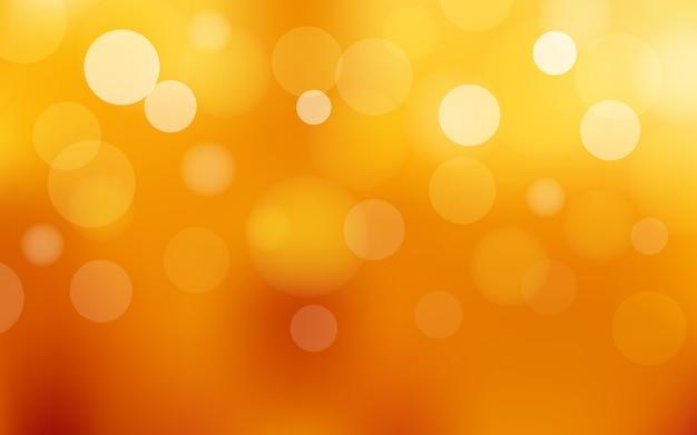 Flou abstrait bokeh et lumière parasite sur l'été orange
