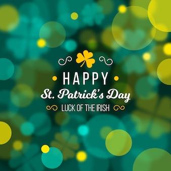 Flou heureux st. message de patricks day