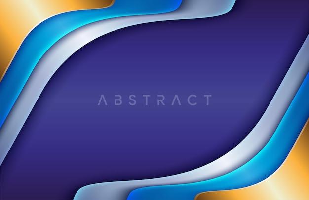 Flou de mouvement futuriste de la science numérique sur des lignes bleu foncé avec fond bleu clair