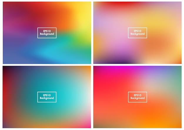 Floue set abstrait maille dégradé coloré vecteur eps10 1