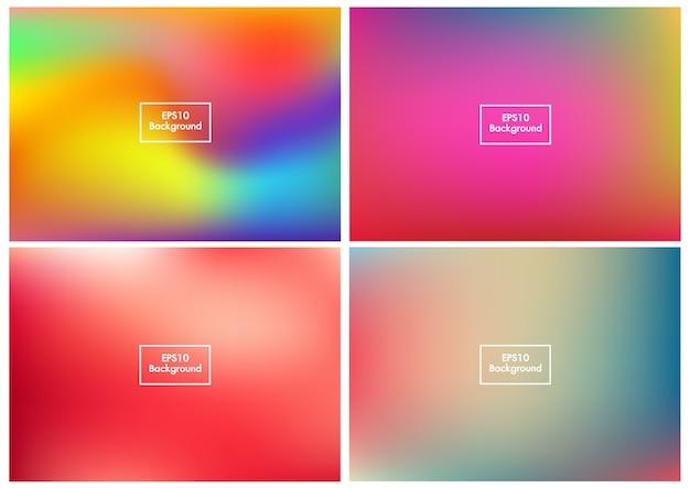 Floue set abstrait maille dégradé coloré vecteur eps10 2