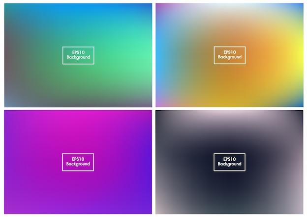 Floue set abstrait maille dégradé coloré vecteur eps10 4