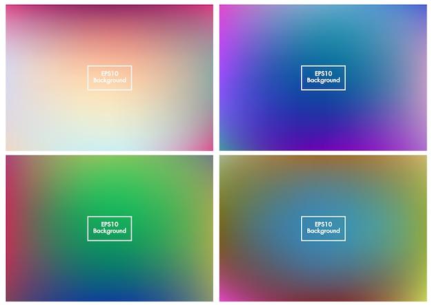 Floue set abstrait maille dégradé coloré vecteur eps10 5