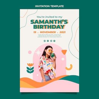Flt design invitation d'anniversaire minimale