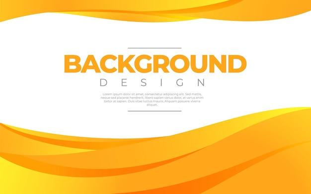Fluide dynamique. style 3d de couleur orange