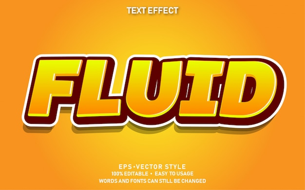 Fluide d'effet de texte modifiable