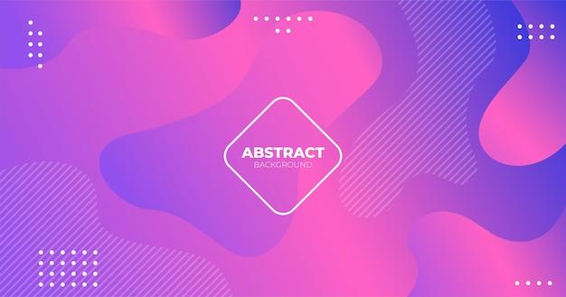 Fluide liquide abstrait moderne rose gradient