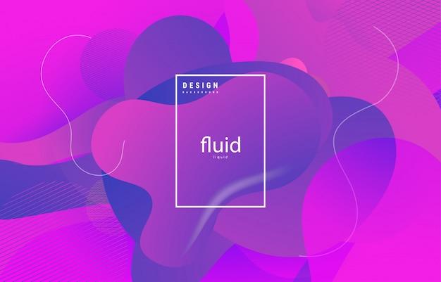 Fluides abstraits liquides formes organiques fond coloré ondulé