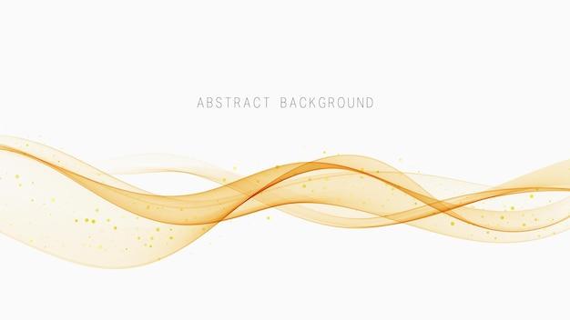 Flux abstrait de vague transparente. élément de conception. fond tendance moderne.