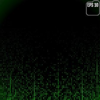 Flux de code binaire à l'écran