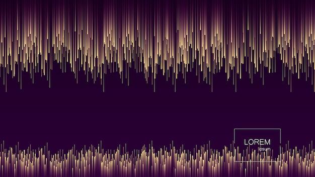 Flux dynamique lignes lumineuses abstrait