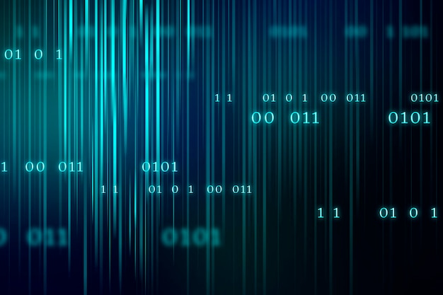 Flux de fond de code binaire