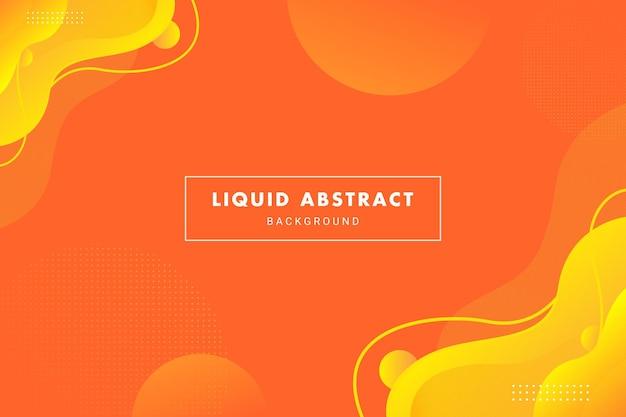 Flux de liquide abstrait orange vif pour la bannière de dépliant de brochure ou le modèle d'arrière-plan de présentation