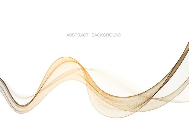 Flux d'onde de couleur transparente fond de vecteur abstrait.