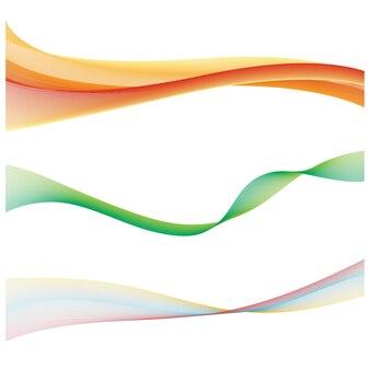 Flux d'ondes couleur abstrait