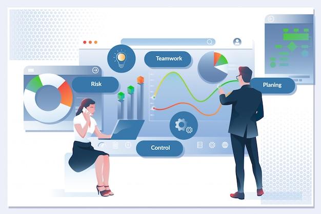 Flux de travail d'entreprise, gestion du temps, planification, application de tâche
