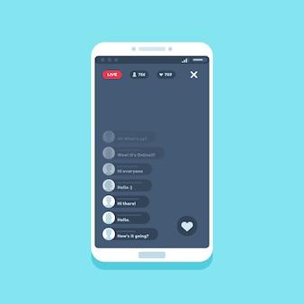 Flux vidéo en direct sur le téléphone