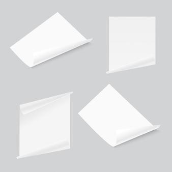 Flyer 3d feuille de papier coin incurvé.