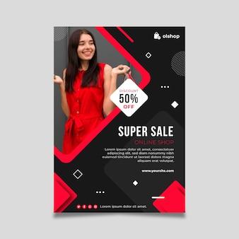 Flyer d'achat en ligne vertical