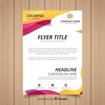 Flyer d'affaires abstrait avec un style coloré