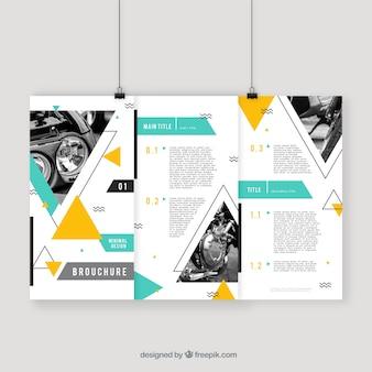 Flyer d'affaires abstrait