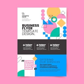 Flyer d'affaires design plat dessiné à la main
