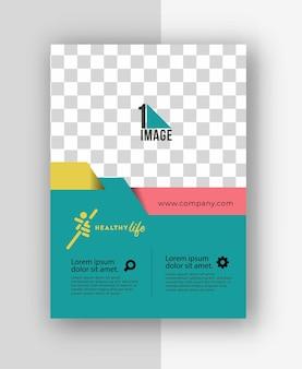 Flyer d'affaires avec espace d'image et logo.