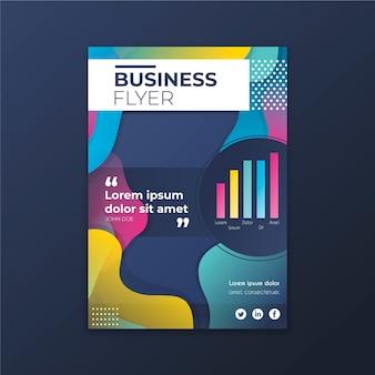Flyer d'affaires avec des formes colorées