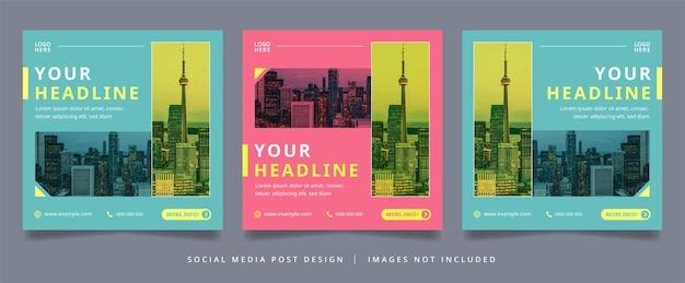 Flyer d'affaires minimaliste et simple ou bannière de médias sociaux