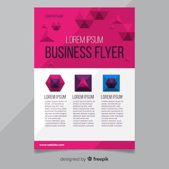 Flyer d'affaires moderne avec un motif géométrique