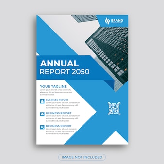 Flyer d'affaires rapport annuel bleu abstrait