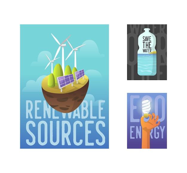 Flyer d'affiche de bannière d'écologie