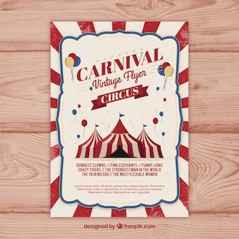 Flyer / affiche de fête de carnaval vintage