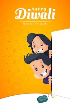 Flyer et affiche pour le festival de diwali
