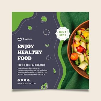 Flyer alimentaire bio et sain avec photo