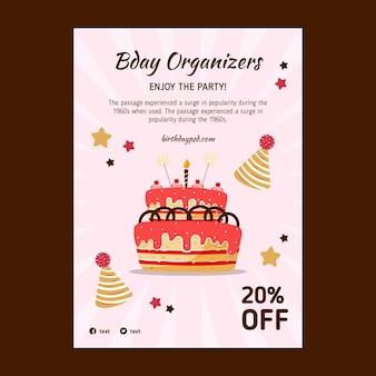 Flyer d'anniversaire pour enfants v
